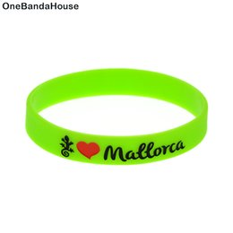 Wholesale 100PCS Lot Love Mallorca Silicone Wristband Advertisement Bracelet Perfect to Use in Any Benefits Gift