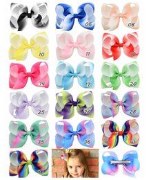 baby headdress 16 colors 4.3 Inch Solid color bubble child bow hair clips Duck color shape baby bow bow hair accessories