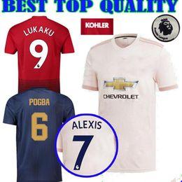 2018 2019 Premier League ALEXIS LUKAKU POGBA MAN FRED UTD LINGARD 10 RASHFORD Soccer Jersey Custom Home Away Third 18 19 Football Shirt
