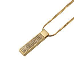 Fashion Men Charm Necklace Full CZ Stone Design Filling Pieces Men Hip Hop Geometric Pendant Necklaces With Chain Length 60cm