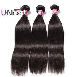 UNice Hair 8A Grade Peruvian Straight Bundles 100% Human Hair Weaving 8-30inch Unprocessed Hair Extensions Wholesale 3 Bundles Weave Silk