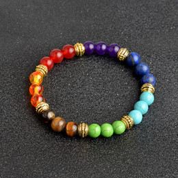 7 Chakra Healing Balance Beads Bracelet Yoga Life Energy Natural Stone Bracelet Women Men Jewelry