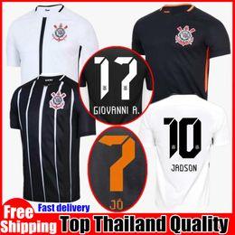 Home Away Corinthian 2017 2018 Paulista Soccer Jerseys Brazil 17 18 Gilchmei Thai Quality Johnath Marlone Azevedo da Silva Football shirts