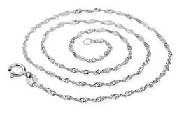 Classic vintage white copper plated white gold eye-catching exquisite ultra long water wave chain high-end quality ladies necklace