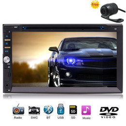 Rear Camera Eincar Double Din Car Stereo 7 Inch Car dvd Digital HD Touch Screen In Dash Radio Audio Receiver Support Bluetooth Subwoof