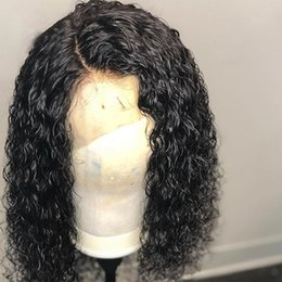 Curly Human Hair Wigs With Baby Hair Brazilian Remy Hair Full Lace Wigs for Black Women