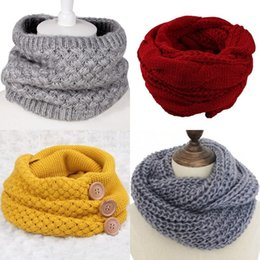Wholesale Winter Cable Ring Scarf Women Knitting Scarves Knitted Warm Neck Circle Scarf Shawls Scarf Pashmina Wool Neck Warm