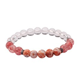 5 Styles Hot Sale New Fashion 8MM Natural Beads Bracelet for Sale MJ-BB031 with Free Gift
