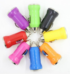 5V1A bullet car charger charged Color mini USB car charger 0.5 A car charger USB Phone Chargers