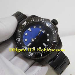 2 Color Luxury Mens Watch Top 44mm Sea-Dweller 116660 D-Blue Black PVD Perpetual Case Asia 2813 Movement Mechanical Automatic Mens Watches