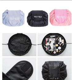 Lazy Vely Vely Portability Magic Travel Pouch Cosmetic Bag Portable Drawstring Makeup Bags Storage Bags
