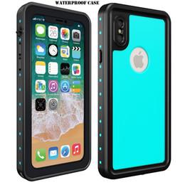 Armor IP68 Swimming Diving Waterproof Case For IPhone X Dot Series TPU Slim Dustproof Shockproof Phone Full Cover