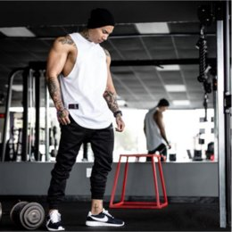 Muscle fitness new sports vest Tank Tops Sportwear Tank tops Fitness Men gyms Clothing sleeveless t-shirts