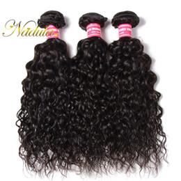 Nadula Raw Indian Hair Bundles Water Wave Cheap Human Hair Extensions 8-26inch Virgin Human Hair Weaves Water Wave Weave Bundles Wholesale