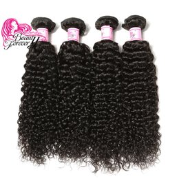 Beauty Forever Brazilian Virgin 8-26inch Curly Hair Bundles 4 Pieces Natural Color Human Hair Weave Best Quality Hair Extensions Wholesale