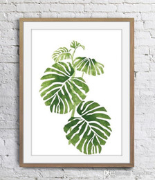 Simple Style Painting Green Leaf Plant Wall Decor Pictures Art Print Home Decor Poster Canvas Unframe 16 24 36 47 Inches