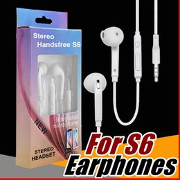 S6 S7 Earphone Earphones J5 Headphones Earbuds iPhone 6 6s Headset for Jack In Ear wired With Mic Volume Control 3.5mm Retail Package E-EJ