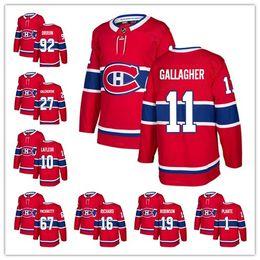 2018 New Montreal Canadiens Men 31 Carey Price 67 Max Pacioretty 11 Brendan Gallagher 6 Shea Weber 92 Jonathan Drouin Red Hockey Jerseys
