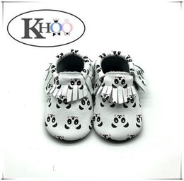 New printing kinghoo baby moccasins soft leather baby shoes with mixed design and size
