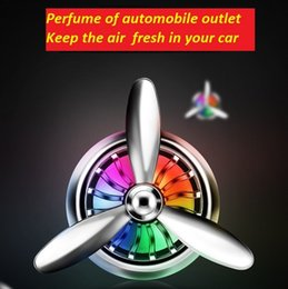 Car Perfume,Air force no. 3, Propeller outlet perfume.Metal perfume pendant with LED ambient light.Keep the air fresh