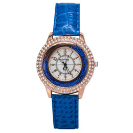 TOP Luxury Diamond Women Watches Leather Strap Dress Watch Quicksand Crystal Quartz Watch Hours Clock Wristwatches For Women