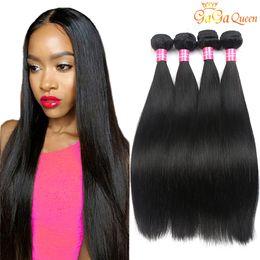 8A Mink Brazilian Straight Hair Bundles Unprocessed Brazilian Straight Hair Weave bundles Peruvian Malaysian Indian Human Hair Extensions