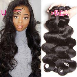 UNice Hair Peruvian Body Wave 4 Bundles 8-30inch Virgin Human Hair Extensions Remy Human Hair Weave Bundles Wavy Weave Wholesale Cheap Bulk