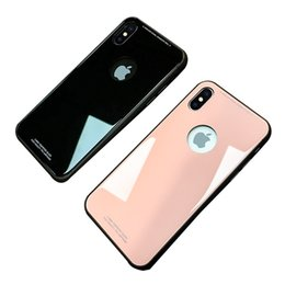 New For iPhone X 8 Plus Ultra Thin Tempered Glass Back Phone Cases Cover Gel Bumper Original Color Shockproof For iPhone 6 7