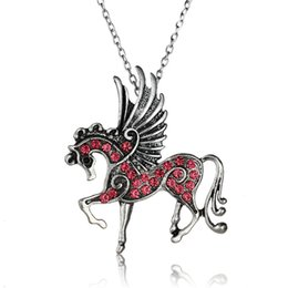 Hot exquisite Tianma necklace micro-encrusted diamond unicorn pendant