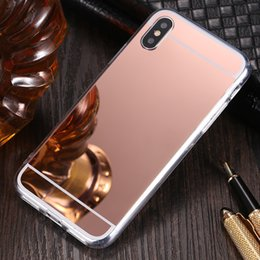 Deluxe Electroplating Plating Mirror Soft TPU Cover Case For iPhone XS Max XR X 8 7 6 Plus Samsung Galaxy S10 E S9 S8 Note 9 M10 M20 A30 A50