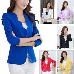 NEW ARRIVAL Women Ladies OL Fashion Slim Blazer Coat Women Suit Jacket Long Sleeve Ladies Blazers Work Wear Jacket DK606WY