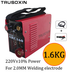 220V New protable DIY welder suitable for 2.0MM electrode IGBT inverter DC hand welding machine equipment   tools with accessory