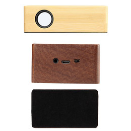 2018 New Luxury Bamboo Portable Wood NFC Sound Amplifier Wooden Mini Wireless Speaker Stereo Magic Induction VS210 Boombox Stereo Music Box
