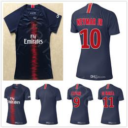18 19 Women Paris Saint Germain Soccer Jerseys BUFFON CAVANI NEYMAR JR  MBAPPE VERRATTI Home Blue Customize Woman Lady Girl Football Shirt 4234b998a