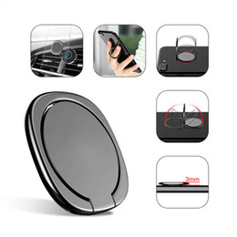 New Luxury 360 Degree Metal Finger Ring Holder Phone Finger Stand Holder bracket For iPhone 9 X 8 7 6 Samsung Tablet with Package