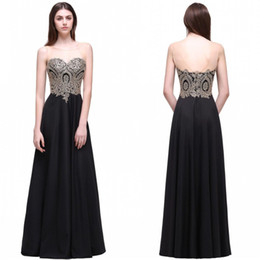 2018 Cheap Black A Line Long Party Dresses Sleeveless Sheer Neck Backless Summer Beach Bridesmaids Cocktail Prom Gown CPS519