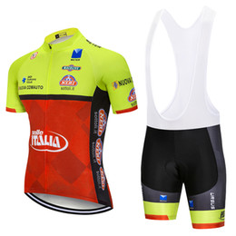 Free Shipping 2019 New ITALIA cycling wear Gel pads bibs shorts set 100% polyester breathable pro cycling jersey Ropa Ciclismo bike clothing