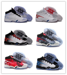 High Quality Retro 30 MVP Black White Red Blue Men Basketball Shoes 30s Sport Shoes with Shoe box