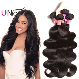 UNice Hair Virgin Brazilian Body Wave Human Hair Bundles Remy Human Hair Extensions Wet and Wavy Weave Bundles Wholesale Cheap Bulk