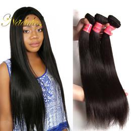 Nadula Virgin Brazilian Straight Hair 3 Bundles Remy Human Hair Extensions 100% Human Hair Weave Bundles Cuticle Aligned Weave Wholesale