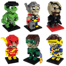 Building Block Avenger Toys Captain America Puzzle Minifig Super heros Toys Hulk Ironman Superman Spiderman Figure Toys Carton Boxes Package