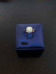 Moissanite Diamond Ring, 1 Ct 18K Gold,Square Design For women
