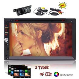 Wireless Rear Camera + Remote Control + EinCar 7 inch Double Din Touchscreen in Dash Bluetooth Car Stereo Automotive Car DVD Player 1080P Vi