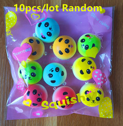 10Pcs lot Top Color Panda Squishy Charms Soft Buns Cell Phone Key Chain Bread Straps Wholesale Best Price Beautiful Package