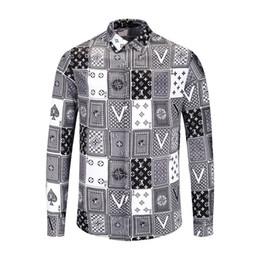 En Gros De Haute Qualit Mens Shirts Designer Marque Business Casual Dress Shirt Livraison Gratuite Et Impression Carte Carre Blanche