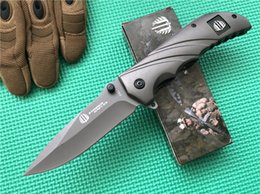 Strider FA22 Assisted Opening Knife 440C stainless steel Gray drop point plain Steel handle EDC Flipper Tactical Folding blade knives