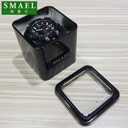 SMAEL Original Gift Box for Sport Watches Mental Box Men Watch Accessory LED Digital Watch Box Protection Sqaure for Watch