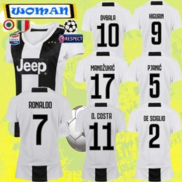 THE New 2019 RONALDO JUVENTUS Soccer Jersey 18 19 JUVE 2018 home Men Woman DYBALA HIGUAIN Football Shirt CRISTIANO MANDZUKIC Uniform Team