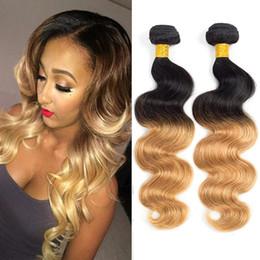 3 Pcs Lot 7A Grade 1B 4 27 Ombre Human Hair Bundles Brazilian Peruvian Malaysian Human Hair Weave Three Tone 1B 27 Ombre Hair Extensions