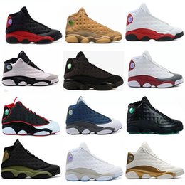 Wholesale New Shoes 13 Men Basketball Shoes 13s XIII Bred Black Brown White Red Hologram Flints Women Sports Sneakers Size 5.5-13
